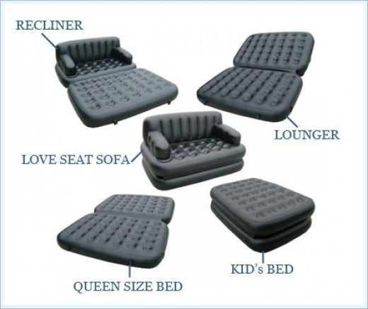 "Comfort Boulevard QUEEN SIZE ""Inflate-A-Sofa"""