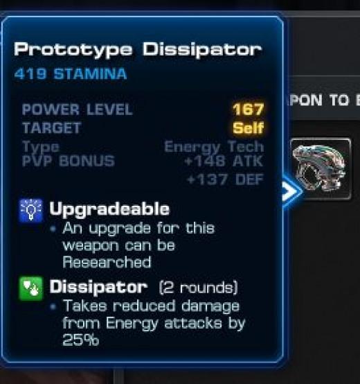 Prototype Dissipator