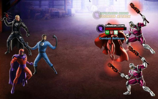 Fighting Servo Guards in Marvel Avengers Alliance