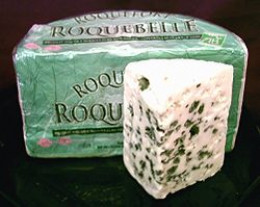 French Roquefort, a cheese made from raw milk, as required by European law.