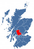 Map location of Stirling Unitary Council, Scotland