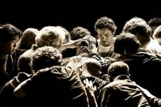 An intercessor prays