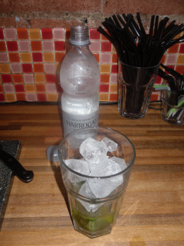 Topped to the brim with ice.