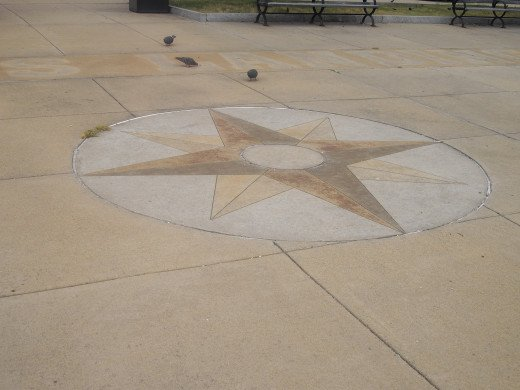The star within this concrete is striking