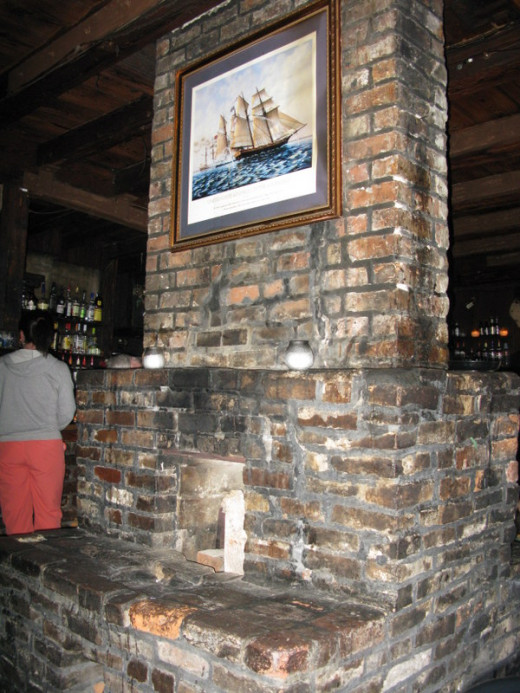 Lafitte's haunted fireplace and chimney
