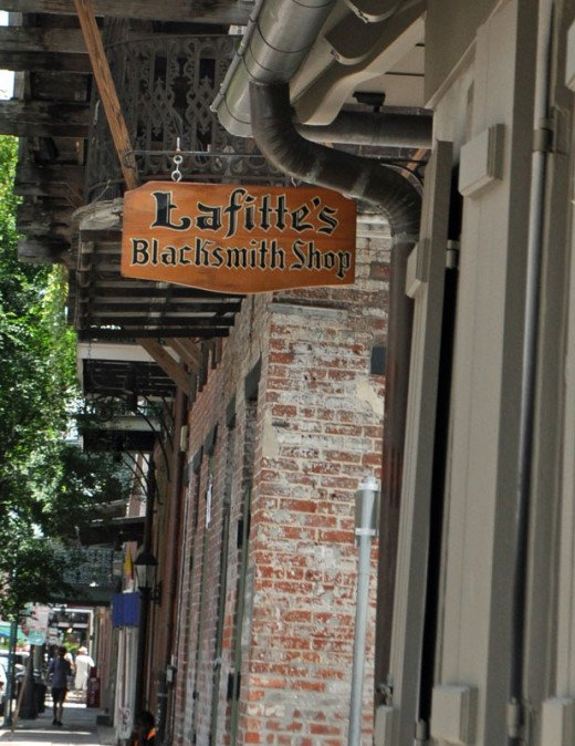 Lafitte Blacksmith shop sign
