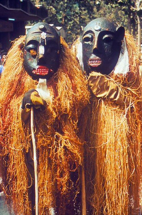 A pair of Nigerian Lassa witchdoctors, looking suitably powerful