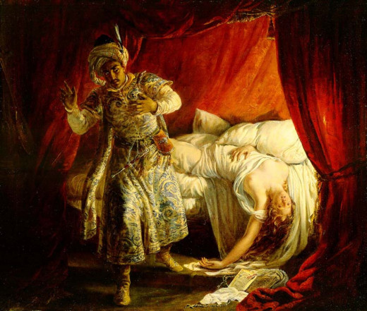 Othello and Desdemona, Alexandre-Marie Colin (1829)