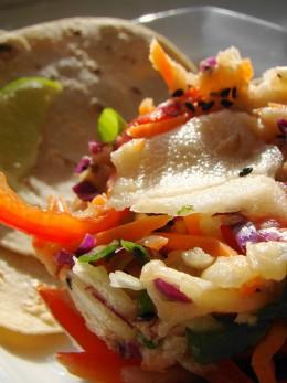 Jicama slaw by Vegan Feast Catering