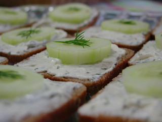 Cucumber sandwiches by VividImageInc on Flickr