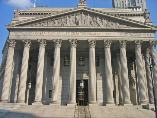 Manhattan DWI cases are handled in lower Manhattan in the criminal court or supreme court buildings.