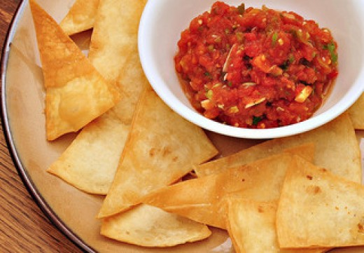 Homemade tortilla chips by jeffreyw on Flickr