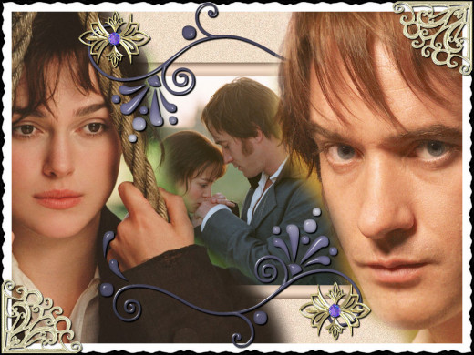 Keira Knightley and Matthew Macfadyen in Pride and Prejudice 2005