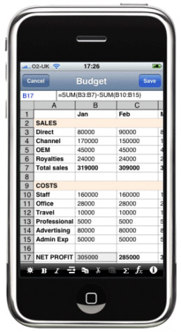 You can even check and add to your spreadsheet on your smart phone!