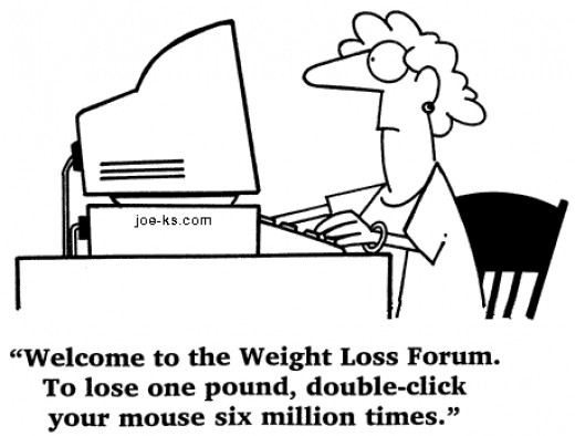 The internet has LOTS of resources for losing weight.