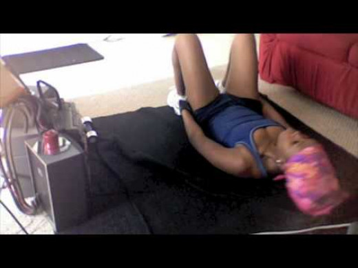 Work out videos are a LIVE SAVER when you don't have a gym membership!