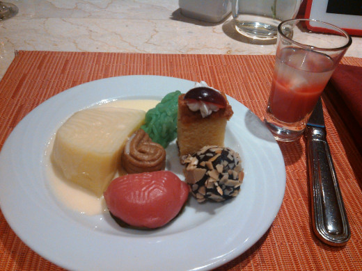 desserts at the hotel!