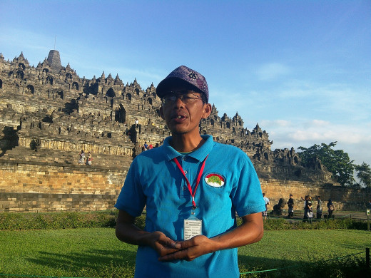 Agus, our funky tour guide in Borobudur.