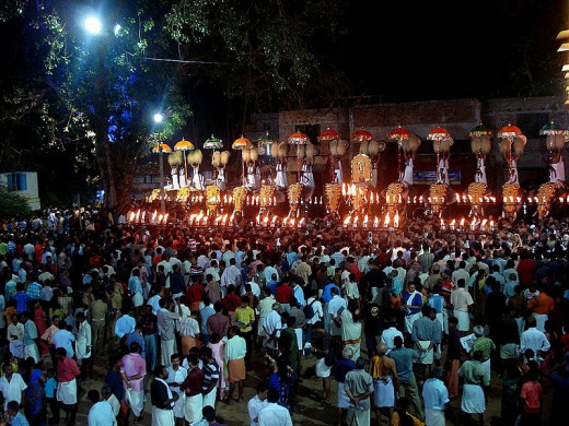 The most popular Arattupuzha Festival