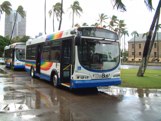 You can get almost anywhere on O'ahu on TheBus.