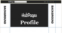 How to create a custom background for your Hubpage profile