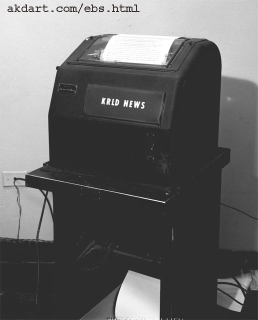 The Teletype machine back in the late 60's / early 70's.