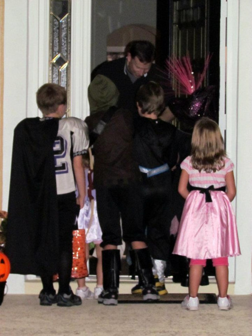 Picturing kids Trick-or-Treating is a great back shot.