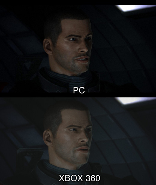 ...is it me or does Shepard look creepier on the PC?