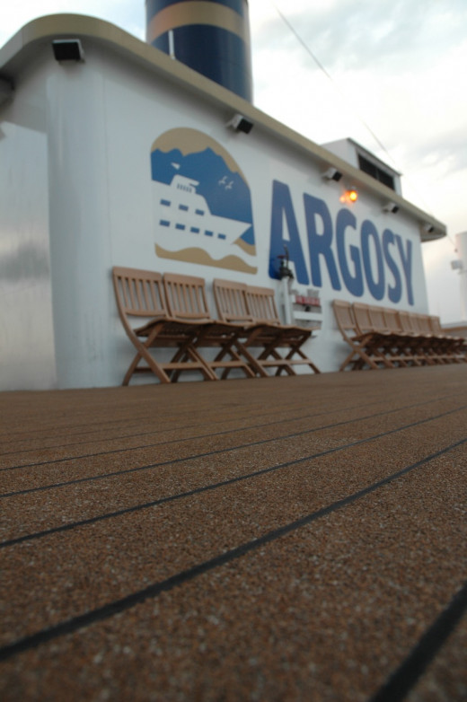 The deck of an Argosy vessel.