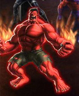 Red Hulk is burning with rage