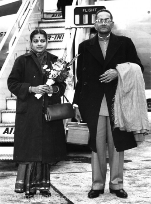 M. S. and Sadashivam traveling to Edinburgh