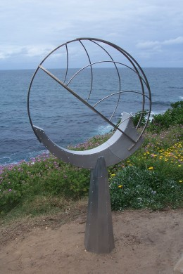 """sky catcher II"" made from stainless steel and aluminium. 185cm x 100 cm x 25cm. by Bob Emser USA"