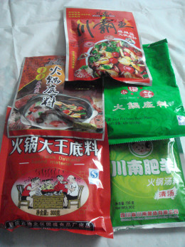 Fig. 6. Packages of commercial hotpot sause.