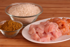 How to make Chicken and Prawn Curry with Basmati Rice