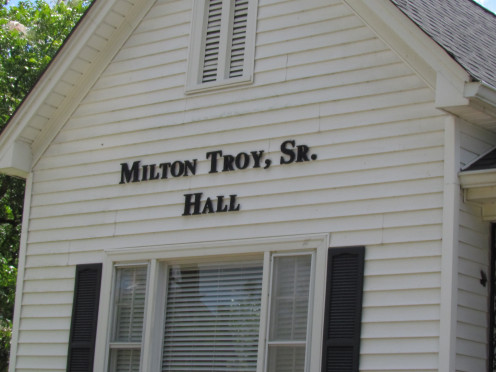 We arrived at the Milton Troy Sr. Hall located in Mullins for our meet and greet of family members.