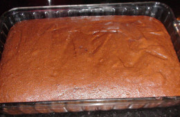 Finished brownies! Ready to cool, cut and eat!