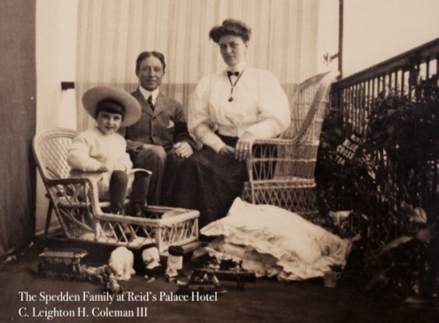 The Speddon family, passengers on the Titanic . Douglas Speddon [on the left] was Polar's owner