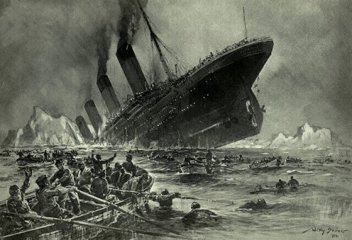 """The Sinking of the Titanic"" by William Stower.1912. Will Clive Palmers Titanic II project sink like its predecessor?"