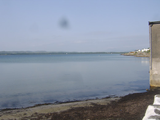 Eastern part of Loch Indaal from terrace of Lochside Hotel, Bowmore