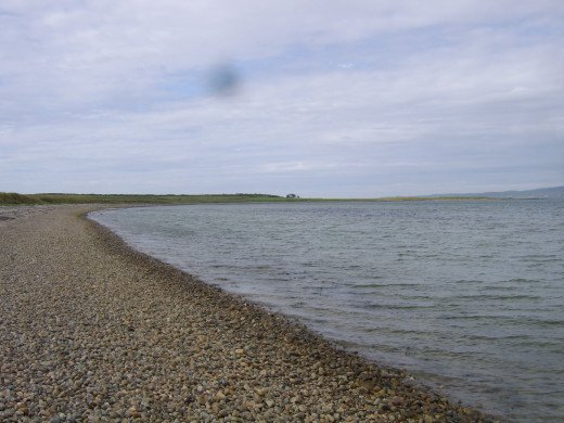 Pebble beach on Loch Indaal near Bowmore