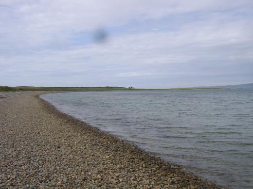 Pebble beach on Loch Indaal near Bowmore