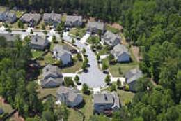 modern middle class suburbia