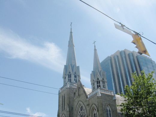 Spires of Holy Rosary Cathedral