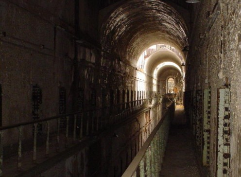 View from the catwalk of the now restricted two-story Cellblock 12