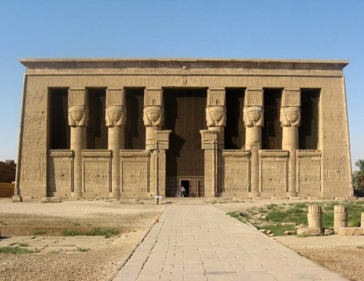 The temple of Hathor in Dendera