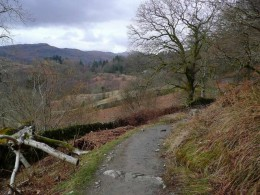 A corpse road still in use today. This is Rydal Water in Cumbria, Northern England.