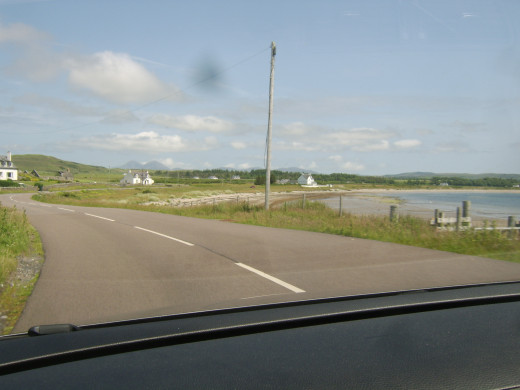 Approaching The Strand by car from the West