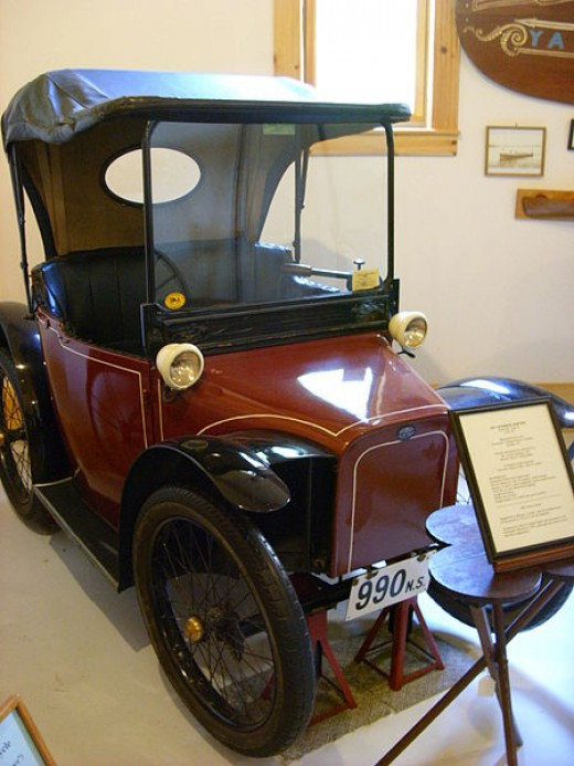 Electric cars are not new, as shown by this 1912 model