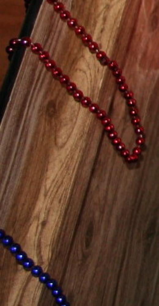 Plastic beaded necklaces