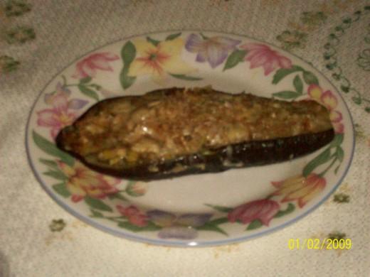 Delightful starter of aubergine